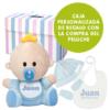 Conjunto bebé con muñeco babyyo, gorro, manoplas y babero
