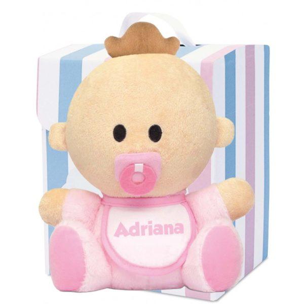 muñeco babyyo peluche bebé rosa moreno