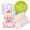 Conjunto Bebé que incluye muñeco babyyo más manta de topitos Mora bordada.