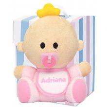 muñeco babyyo peluche bebé rosa rubio
